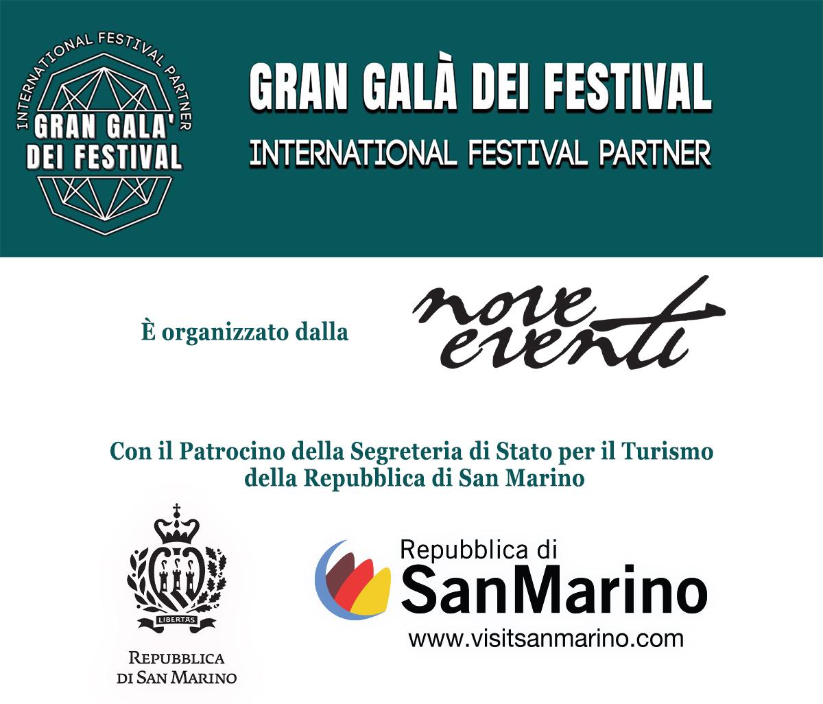 Gran Galà dei Festival con il Patrocinio della Segreteria di Stato per il Turismo della Repubblica di San Marino